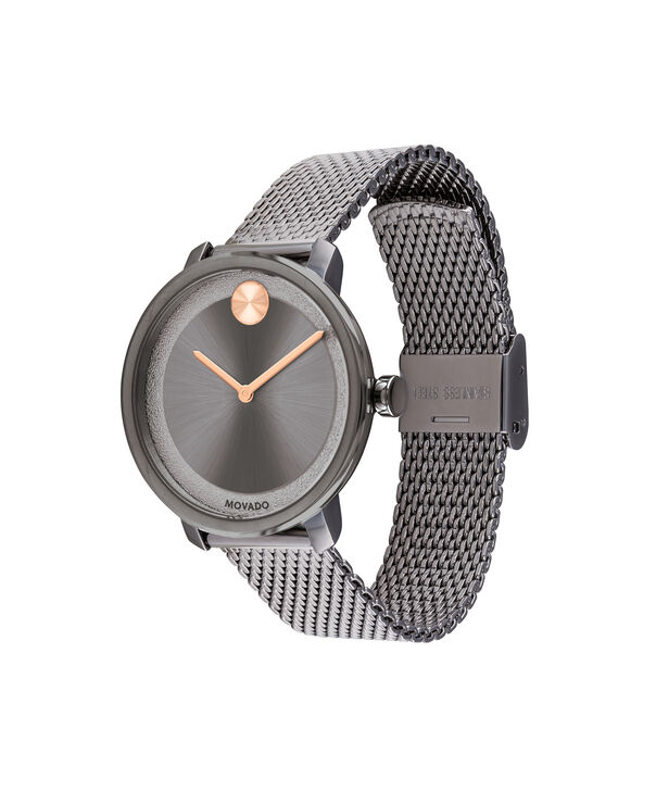 MOVADO Movado BOLD3600581 – 34 mm grey bracelet watch - Side view