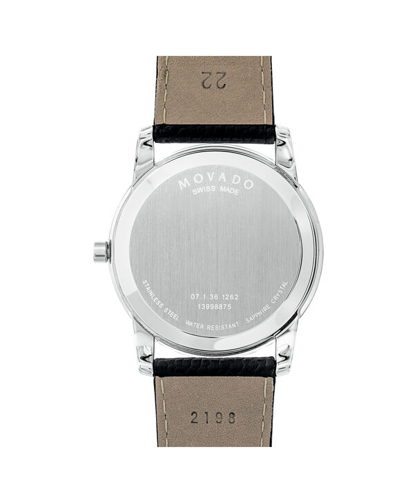 MOVADO Museum Classic 0607012 – Men's 40 mm strap watch - Back view